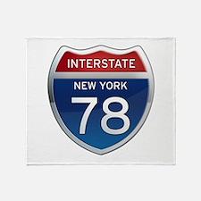 Interstate 78 - New York Throw Blanket