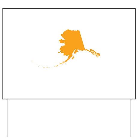 Orange Alaska Yard Sign