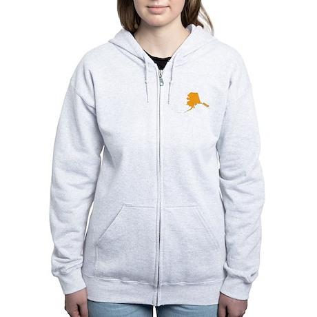 Orange Alaska Women's Zip Hoodie
