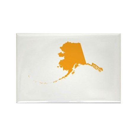 Orange Alaska Rectangle Magnet (100 pack)