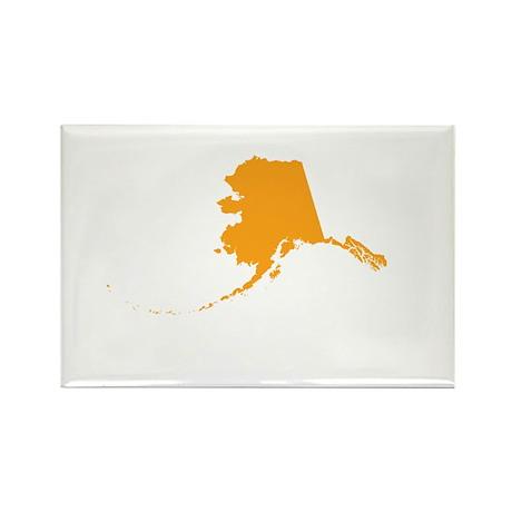 Orange Alaska Rectangle Magnet