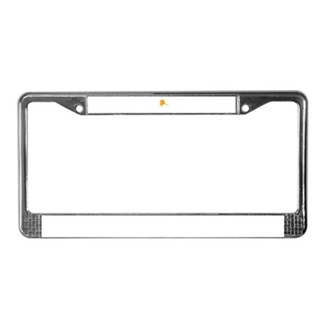 Orange Alaska License Plate Frame