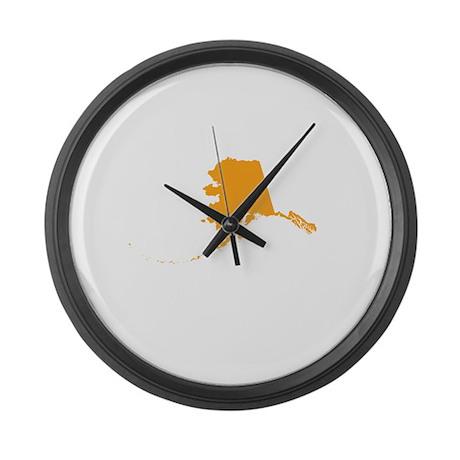 Orange Alaska Large Wall Clock