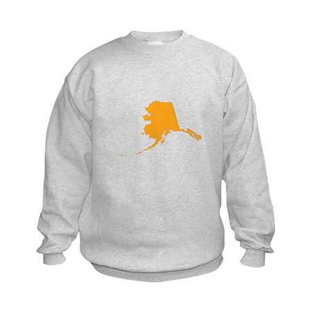 Orange Alaska Kids Sweatshirt