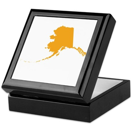 Orange Alaska Keepsake Box