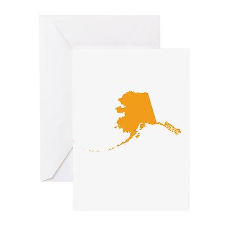 Orange Alaska Greeting Cards (Pk of 10)