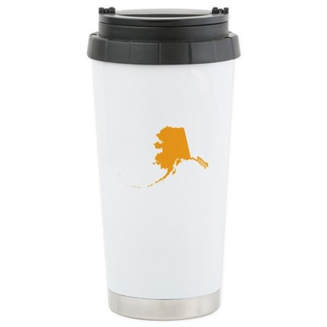 Orange Alaska Stainless Steel Travel Mug