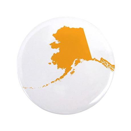 "Orange Alaska 3.5"" Button"