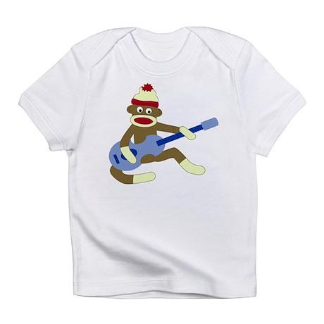 Sock Monkey Blue Guitar Infant T-Shirt