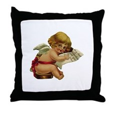 Cupid with Glasses Throw Pillow