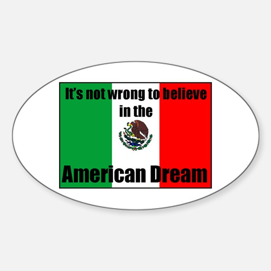 American Dream Oval Decal
