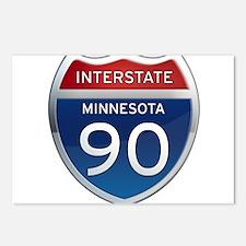 Interstate 90 - Minnesota Postcards (Package of 8)