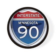 Interstate 90 - Minnesota Wall Clock
