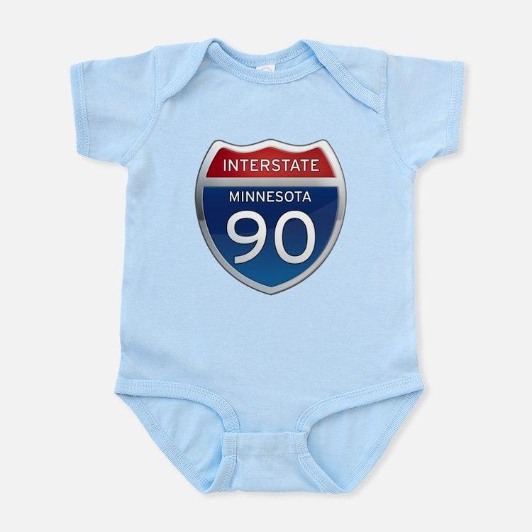 Interstate 90 - Minnesota Infant Bodysuit