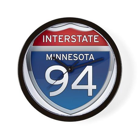 Interstate 94 - Minnesota Wall Clock