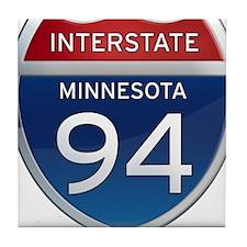 Interstate 94 - Minnesota Tile Coaster