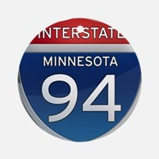 Interstate 94 - Minnesota Ornament (Round)