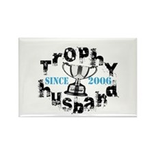 Trophy Husband Year & Name Rectangle Magnet