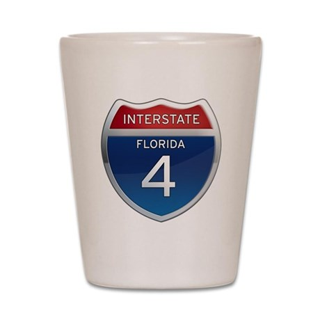 Interstate 4 - Florida Shot Glass