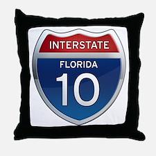 Interstate 10 - Florida Throw Pillow