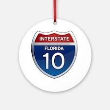 Interstate 10 - Florida Ornament (Round)