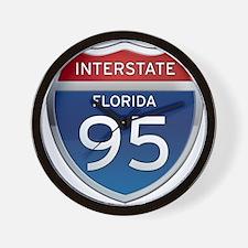Interstate 95 - Florida Wall Clock