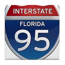 Interstate 95 - Florida Tile Coaster