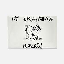 My Grandma Rocks Drums Rectangle Magnet