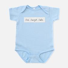 Live. Laugh. Lake. Infant Bodysuit