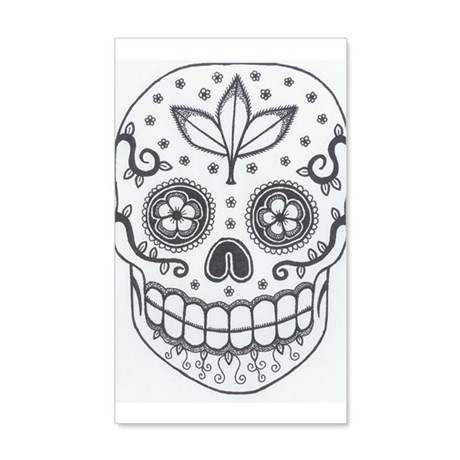 Sugar Skull 38.5 X 24.5 Wall Peel