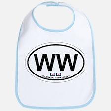Wildwood NJ - Oval Design Bib