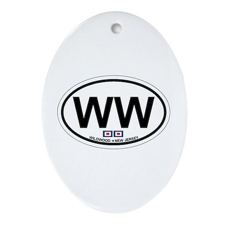 Wildwood NJ - Oval Design Ornament (Oval)