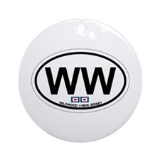 Wildwood NJ - Oval Design Ornament (Round)