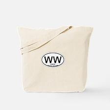 Wildwood NJ - Oval Design Tote Bag