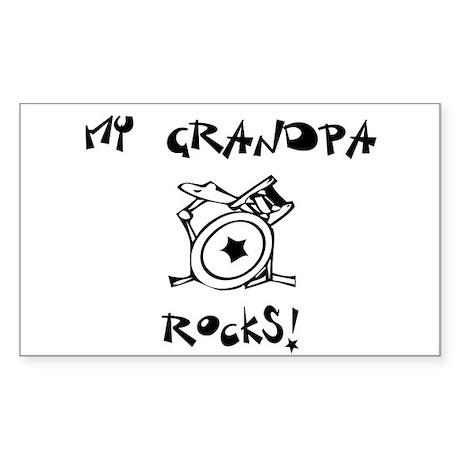 My Grandpa Rocks Drums Sticker (Rectangle)