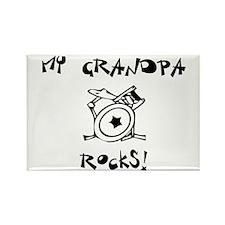 My Grandpa Rocks Drums Rectangle Magnet