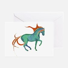 mosaic horse Greeting Cards (Pk of 10)