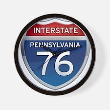 Interstate 76 - Pennsylvania Wall Clock