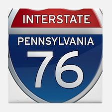 Interstate 76 - Pennsylvania Tile Coaster