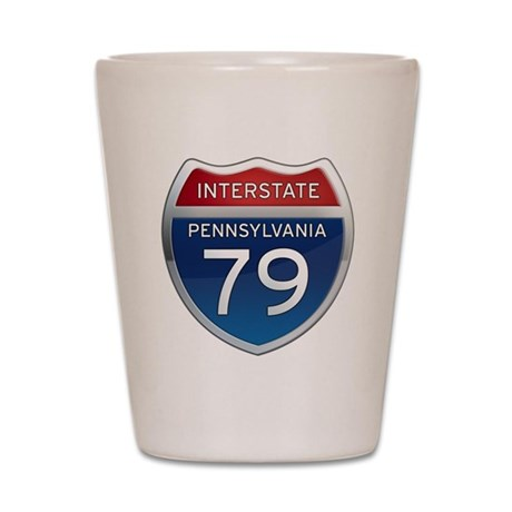 Interstate 79 - Pennsylvania Shot Glass