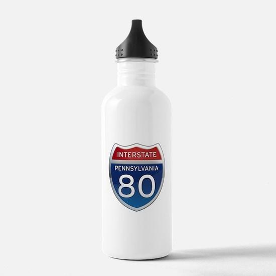 Interstate 80 - Pennsylvania Water Bottle