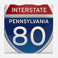 Interstate 80 - Pennsylvania Tile Coaster