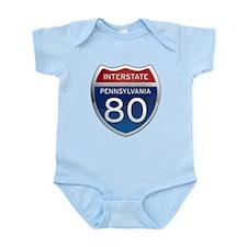 Interstate 80 - Pennsylvania Infant Bodysuit