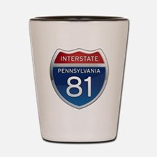 Interstate 81 - Pennsylvania Shot Glass