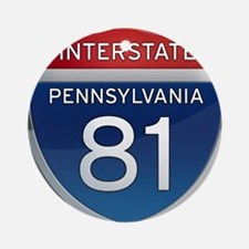 Interstate 81 - Pennsylvania Ornament (Round)