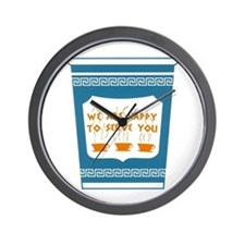 """NYC """"Blue Cup"""" Wall Clock"""
