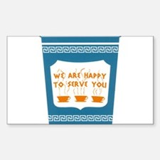 """NYC """"Blue Cup"""" Sticker (Rectangle)"""