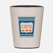 """NYC """"Blue Cup"""" Shot Glass"""