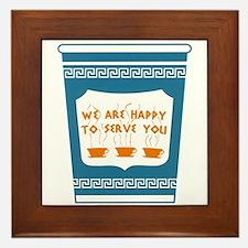 """NYC """"Blue Cup"""" Framed Tile"""