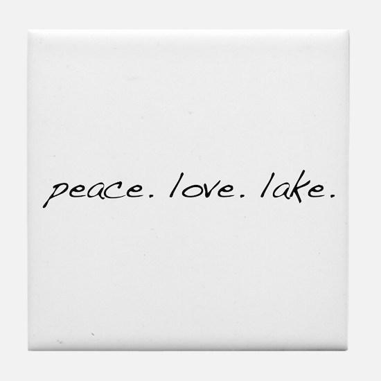 Peace. Love. Lake Tile Coaster